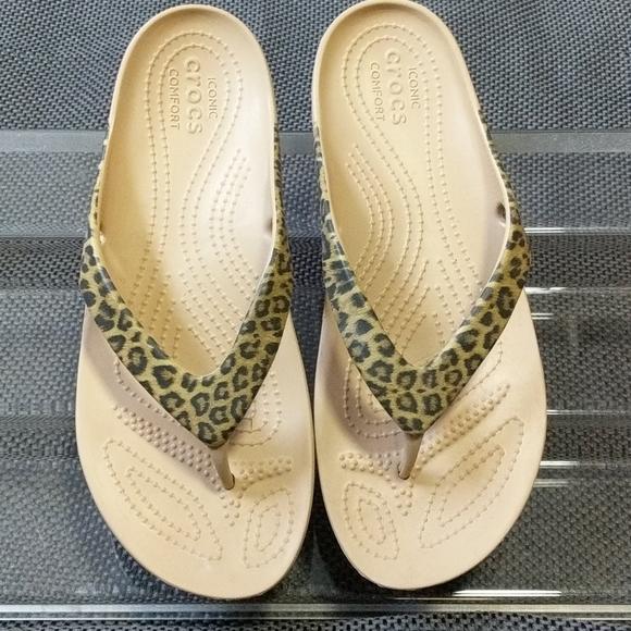 CROCS Shoes | Leopard Print Womens Size